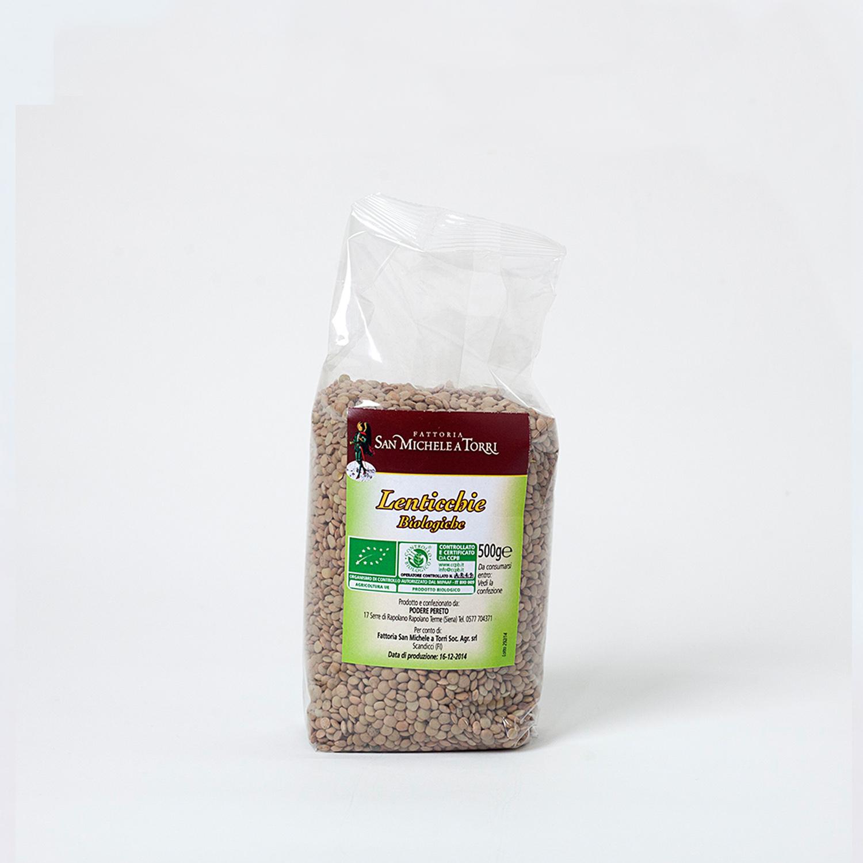 Lenticchie Biologiche, confezione da 0,5 Kg