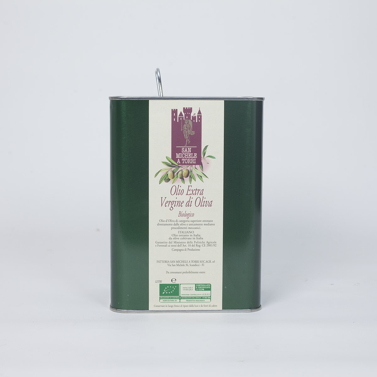 OLIO EXTRA VERGINE DI OLIVA - Latta da 3 lt.